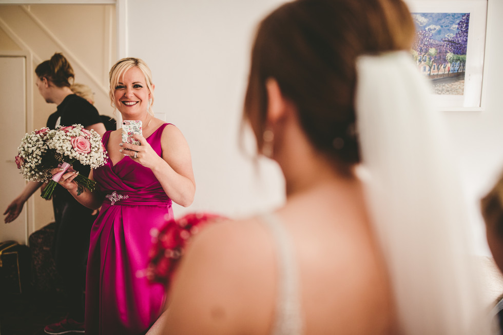 bride at Oxwich Bay Hotel South Wales
