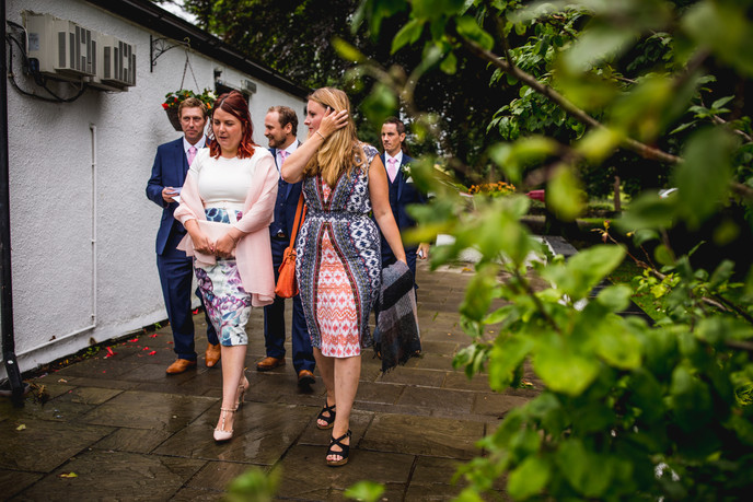 people at Llechwen Wedding