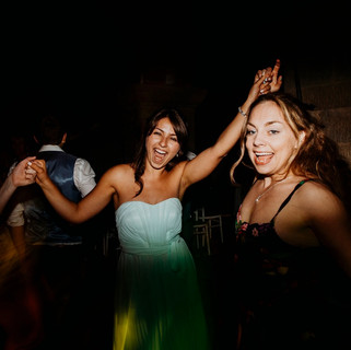 DJs at a wedding