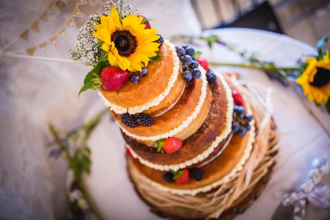 cake at a wedding