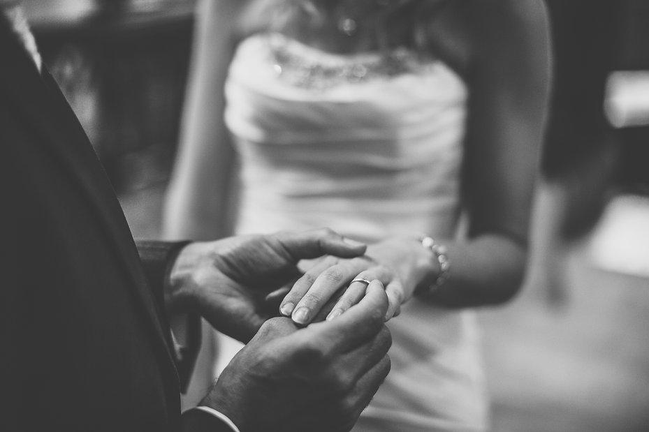 Wedding rings at Cardiff Masonic Hall Wedding