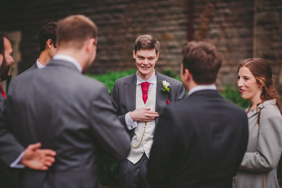 groom and ushers at Royal Welsh