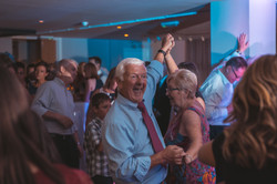 Older couple dancing at Joylons
