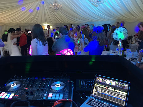 DJ set up at bryngarw house