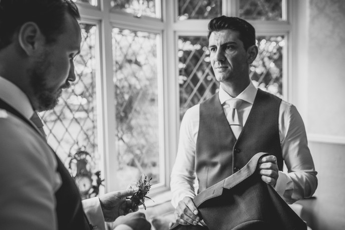 groom at Llechwen Hall Wedding