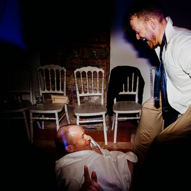 Having fun at Wedding disco