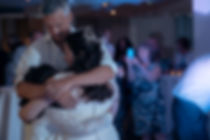 Hugging at Hensol Castle Wedding