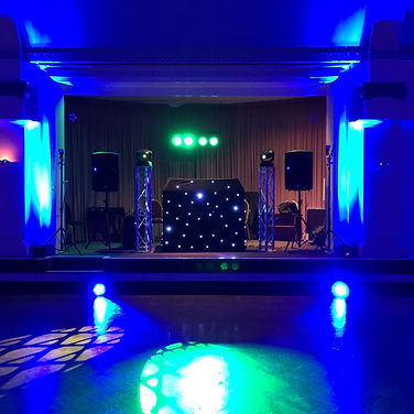 DJ gear in the Cardiff City Hall
