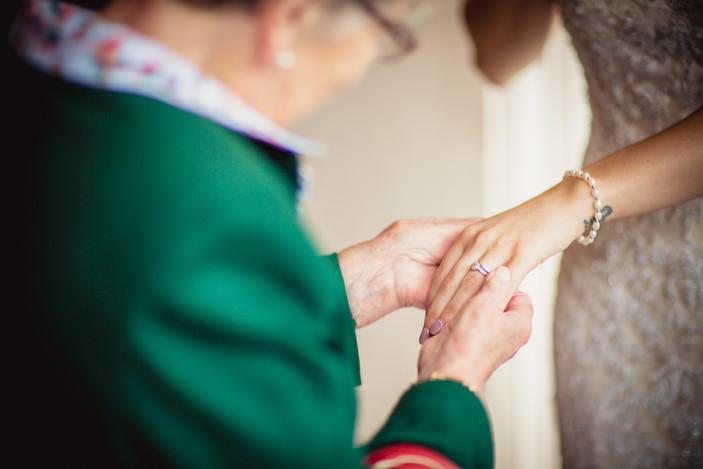 wedding rings at Coed Y Mwstwr wedding