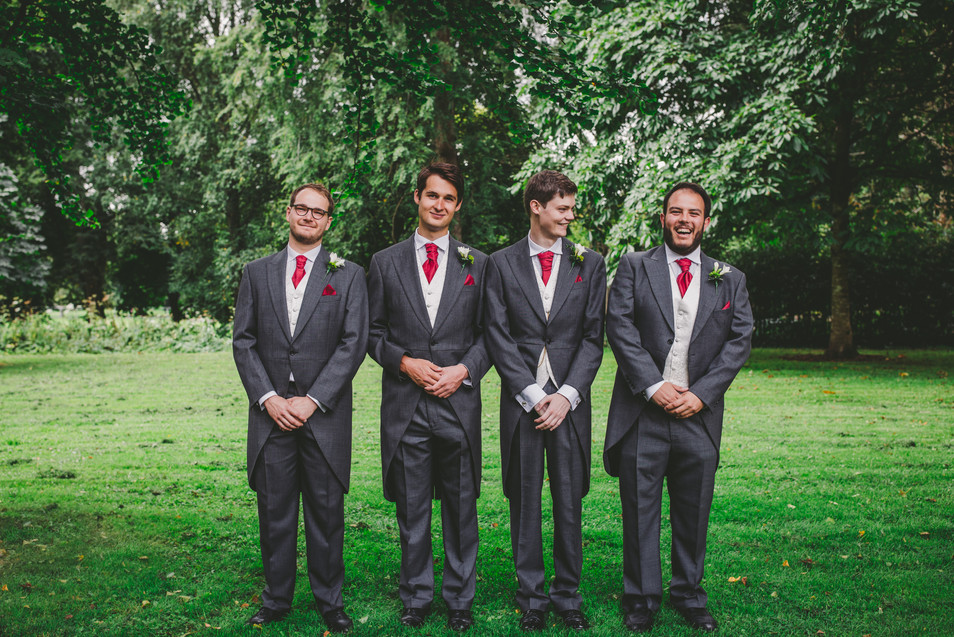 groom and ushers at Royal Welsh college