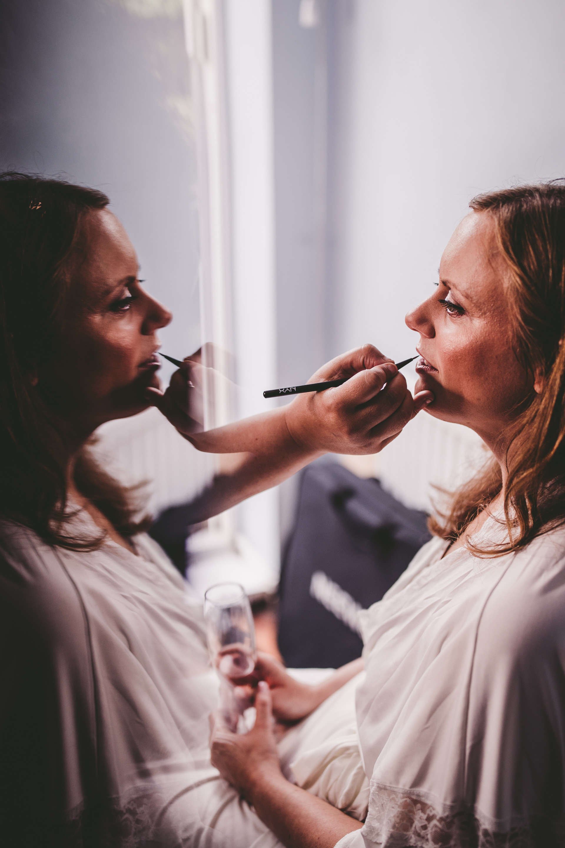 bridal makeup at Oxwich Bay Hotel South Wales