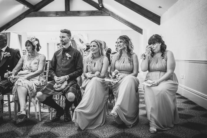 guest at Coed Y Mwstwr wedding