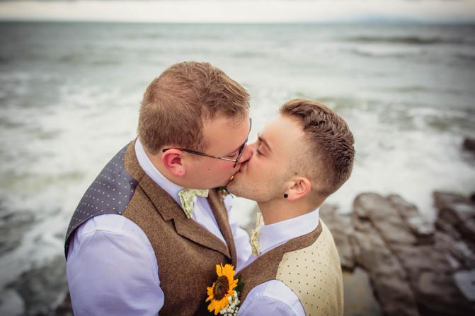 Gay portrait at a Cardiff wedding