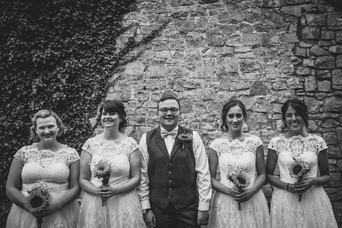 groom and friends at a Cardiff wedding