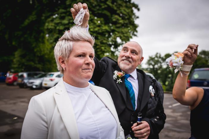 bridal shot at Coed Y Mwstwr, Cardiff