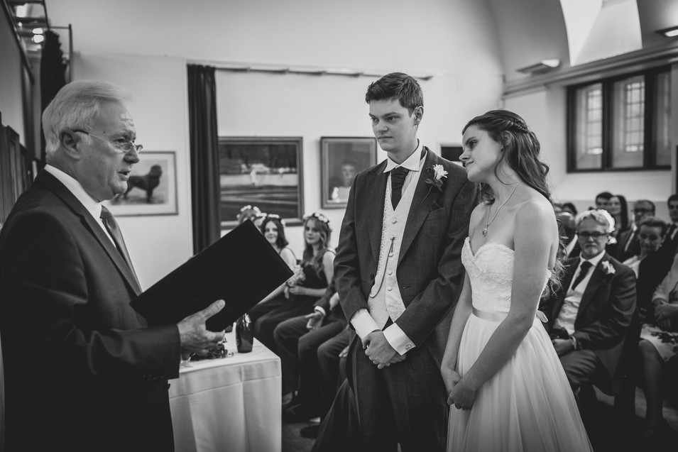 bride and groom at Royal Welsh college