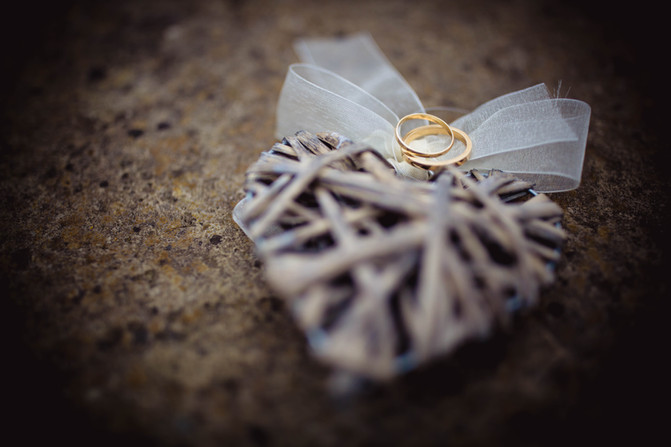 Wedding rings at Rosedew Farm Wedding