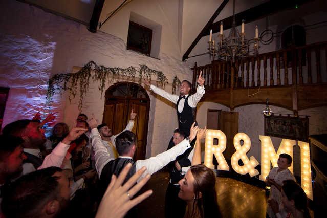 Celebrating at Wedding