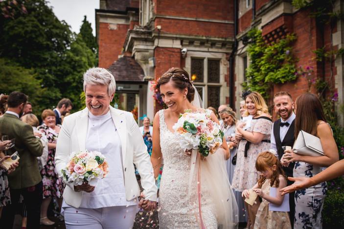 bride couple at Coed Y Mwstwr, Cardiff