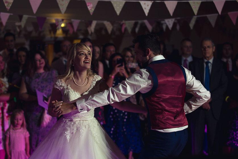 Dancing at Rudry Parish Hall wedding