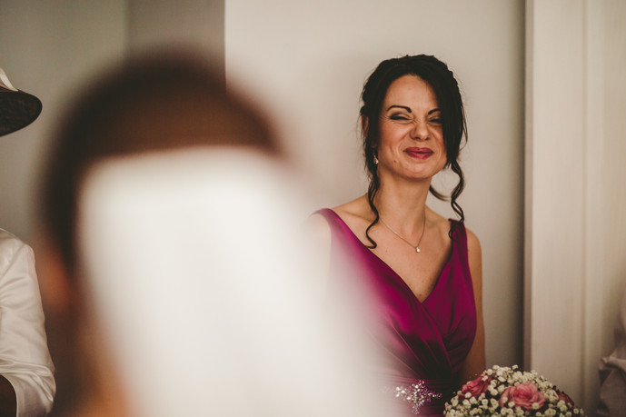 bride at Oxwich Bay Marquee Wales