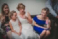 bride and bridesmaids at Atlantic College Wedding