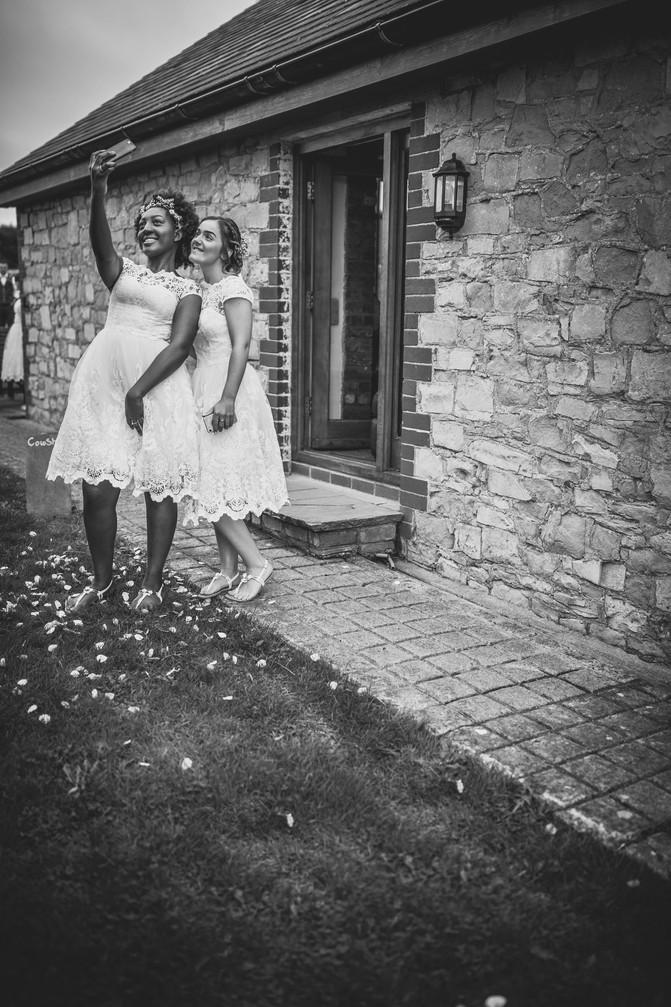 guest at Rosedew Farm Wedding