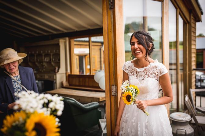 lady at a wedding