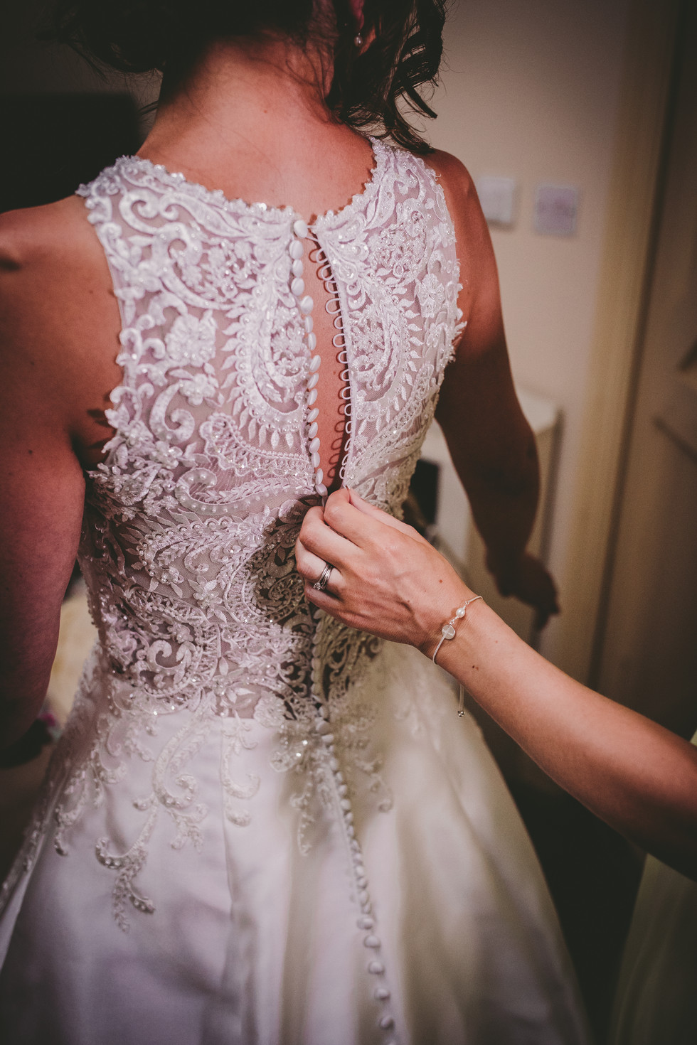 bride dress in Crug GlasSouth Wales