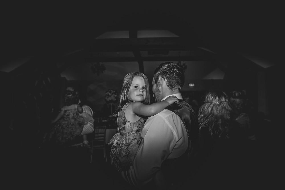 on the dance floor at a Cardiff wedding