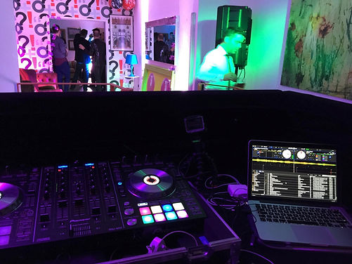 View from DJ booth in Bute Street