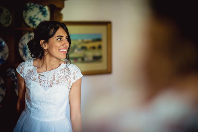 bride at Rosedew Farm