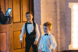 Two boys at Miskin Manor Wedding