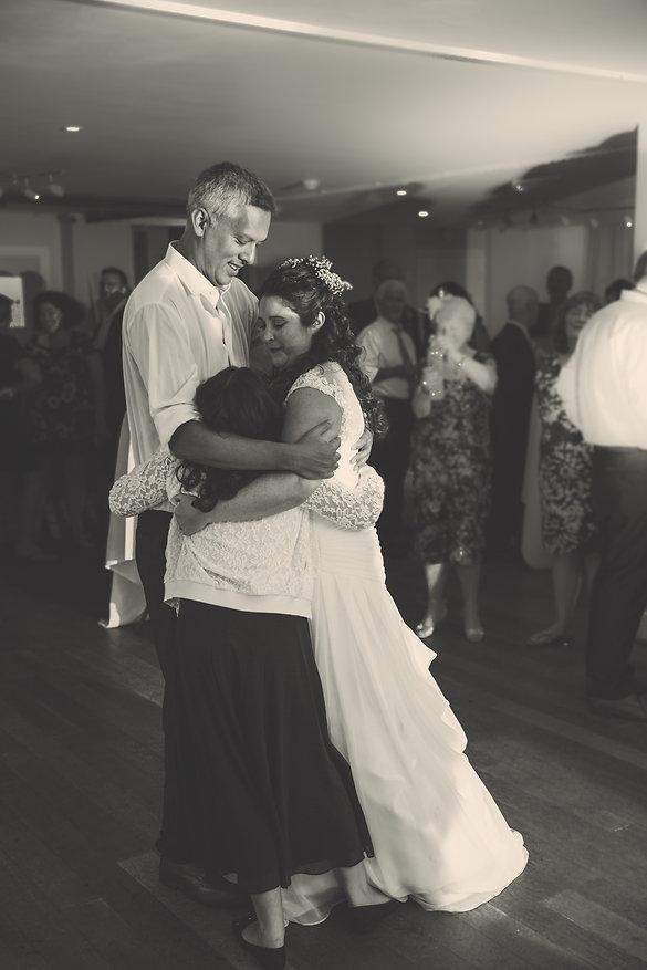 huging at St Davids Hotel Wedding