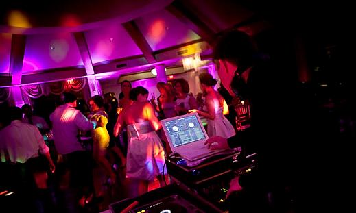 DJ at a Cardiff wedding