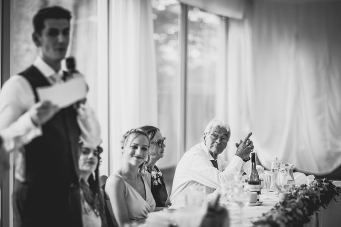 speeches at a Cardiff wedding