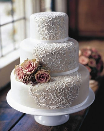 Lace Wedding Cake For Your Cardiff Wedding