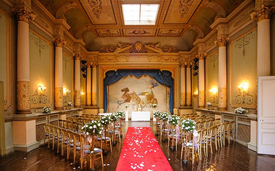 Altar at Craig Y Nos Wedding