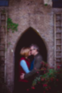 couples at fonmon castle wedding