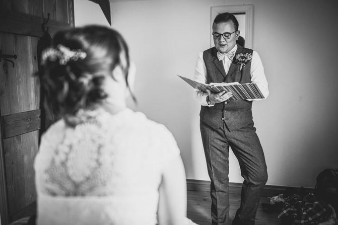 girl and groom at Rosedew