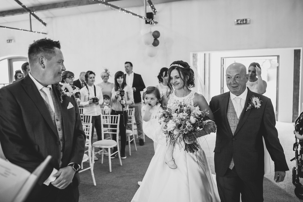 bride and groom at Crug Glas South Wales