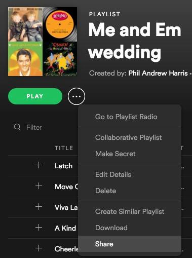 Spotify wedding dj