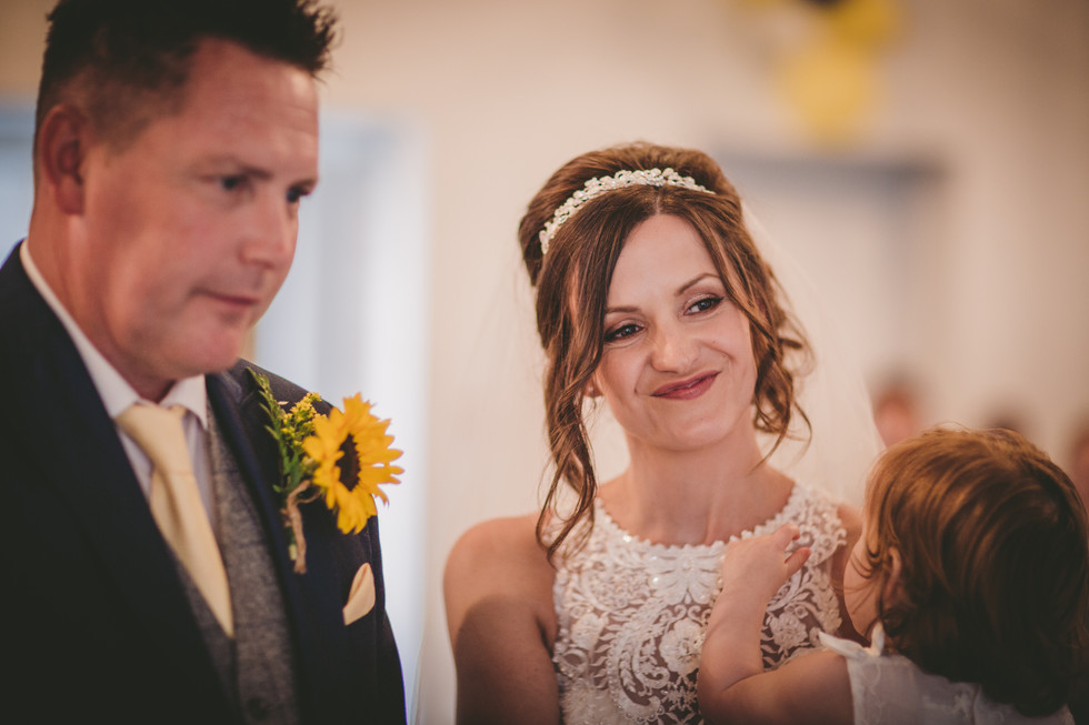 bride and groom at Crug Glas
