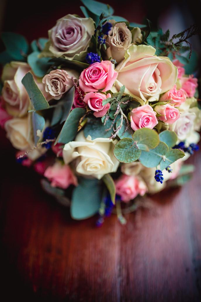 flowers at Llechwen Hall Wedding