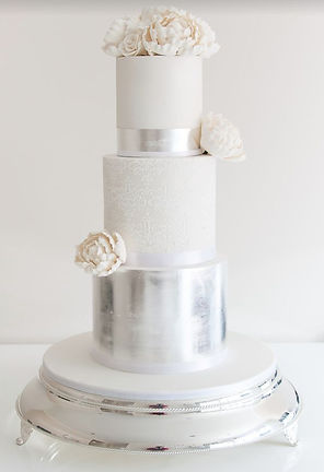 Buy a Silver Wedding Cakes cardiff