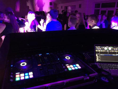 DJ equipment at PontyClun rygby club