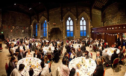 Caerphilly castle wedding disco