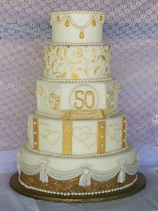 buy a golden wedding cake in cardiff
