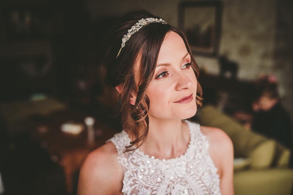 bride in St Davids Wales