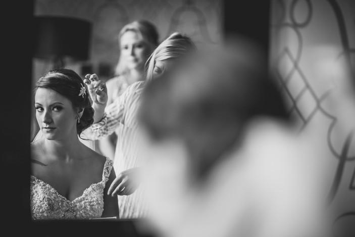 bride at Coed Y Mwstwr